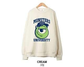 Cream Monster University Pullover