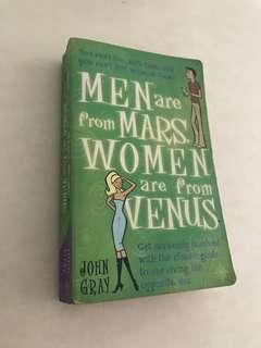 Men's are from Mars Women are from Venus