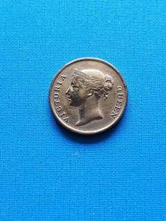 Queen Victoria one cent coin 1862