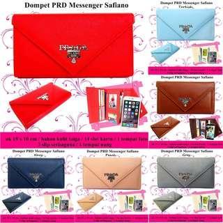 Dompet  prd messenger safiano best seller