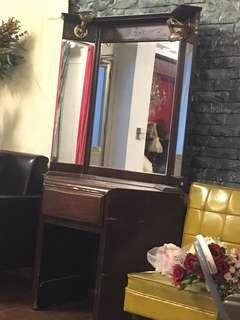 古董化妝台三面鏡
