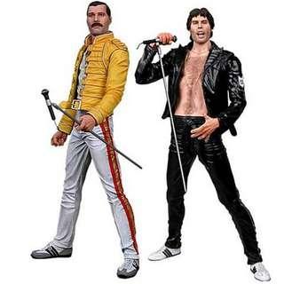 "MISB NECA Freddie Mercury 7"" figures"