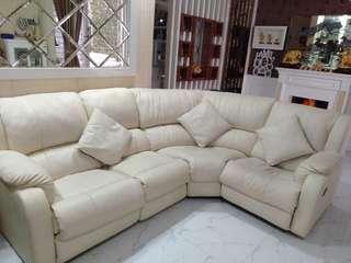 Sofa Kulit L shape Recline