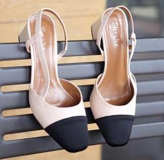 Sheshe Chanel Inspired Sling Back Shoes