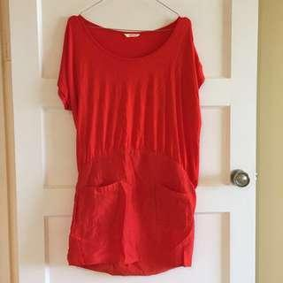 Sass And Bide Orange Tee shirt Dress