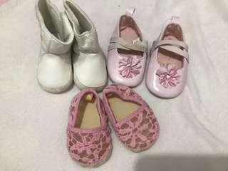 Baby shoes! 3 pairs
