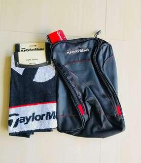 Brand new light weight Taylor Made shoe bag and cart towel