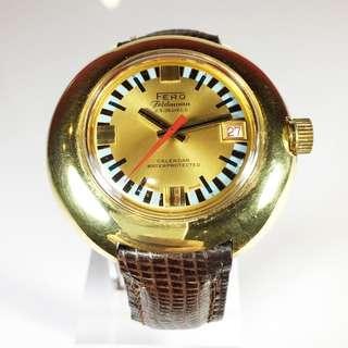 1970s Fero Feldmann 23 Jewels Mechanical Winding Mens Watch