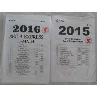 Sec 2 3 express Maths Mathematics school exam papers