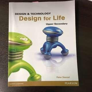 Design for life D and T textbook for upper secondary school Like brand new condition
