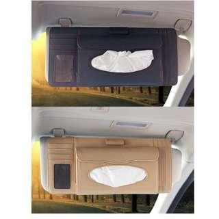Car Sun Visor Organiser Multifunction Holder 4-In-1 Tissue Holder + CD + Card + Pen Organizer