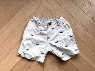 Place baby boy embroidery shorts BB 刺繡短褲 gap