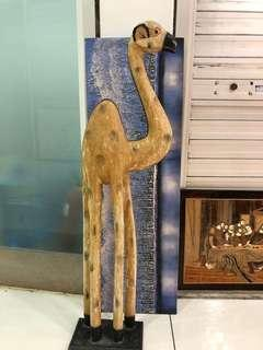 Wood Carving Camel Display (骆驼木雕)