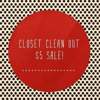 Prices listed - $5 sale!!!!!