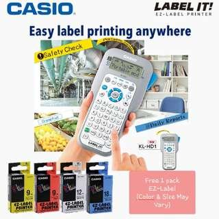 Casio Label Printer KL-HD1/Ready Stock! Print Textbooks Labels etc