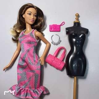 Barbie With Clothes & Accessory