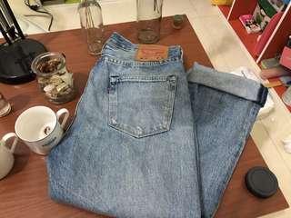 Levi's 501寬筒牛仔褲