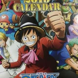 One Piece Wall Calendar A3 Size 2019 Ver