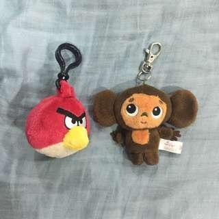 玩偶鑰匙圈 吊飾 Angry Birds 憤怒鳥 大耳查布
