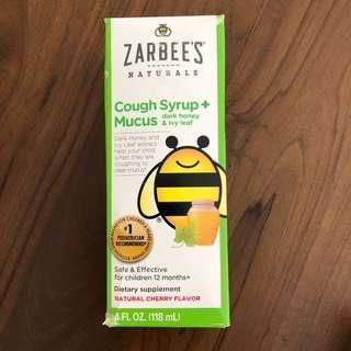 (包郵) Zarbee's Naturals 兒童止咳糖漿
