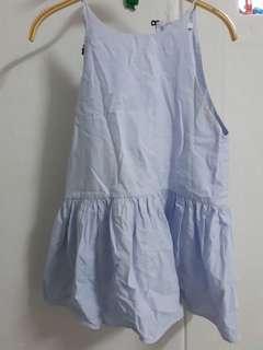 Zara trafaluc collection soft denim chic top