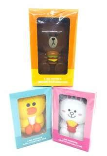 Line Friends Portable Fan - Set of 3 (Brown, Cony & Sally)
