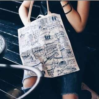 🚚 BNIB PLAYWORKS Chiang Mai City Print Tote Bag