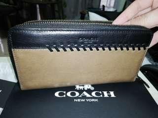COACH Man Zip Around Long Wallet 💰CNY ONG $400 ++ rebate 🛒 FLEX $AVER 1+1!  🎁 FREEBIES 🚚 FREE POSTAGE ⛑️ RESERVED 48 HRS