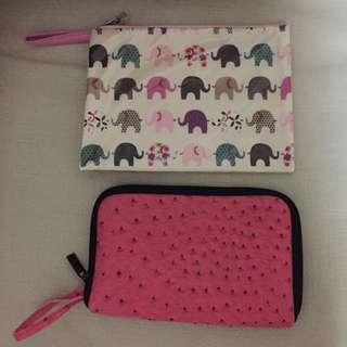 (FREE) brandnew sling zip pouch x2. Giving both altogether