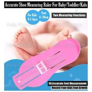 [Kibot-Home]3D Accurate Shoe Measuring Ruler Slider Gauge for infant Baby Toddler Kids Teenager with CM & Asian Shoe Sizes/Precise Feet Measurement/Record Your Kids Foot Growth/Child Foot Measuring Gauge