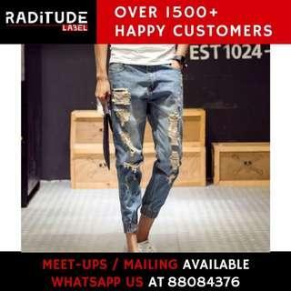 Denim Jeans Jogger Pants