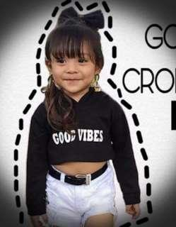 Hooded Crop top for kids