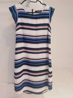 Stripy size 8 Portmans dress