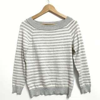 KNIT GREY STRIPE