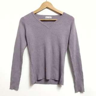 PURPLE TOP KNIT