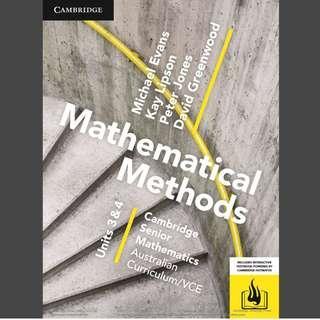 Cambridge Math Methods 3 & 4