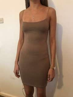 Nude tan Princess Polly bodycon dress