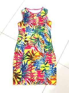 Printed open back summer dress