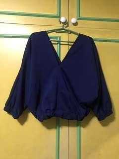 Naby blue top