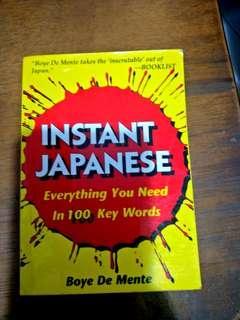 Instant Japanese phrasebook