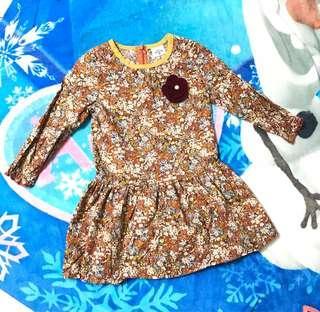 🚚 韓國女童碎花洋裝 連身洋裝