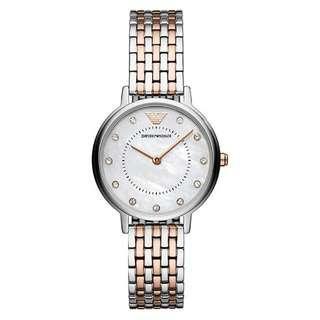 Authentic Emporio Armani 2 Tones Ladies Watch