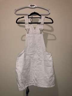 White dungaree! Worn once !