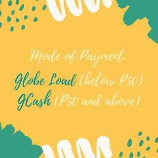 UPDATED Mode of Payment