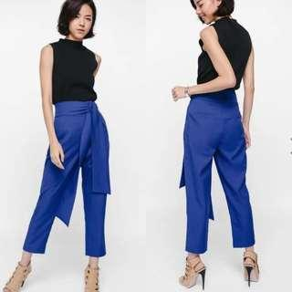 🚚 Love Bonito Pamaina Pants Blue Size M