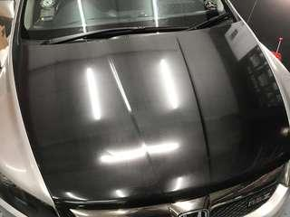 Honda stream bonnet 6D Carbon wrap