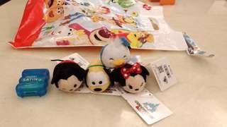 🚚 Disney小玩偶4入