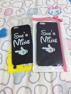 iPhone 6 and iPhone 6 Plus black hard casing