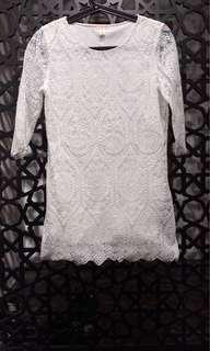 White Lace Top/ Dress