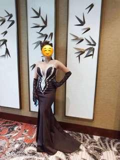 Black with Silver Gown